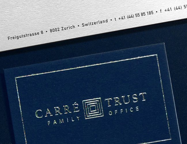 CARRÉ TRUST  _  CORPORATE DESIGN