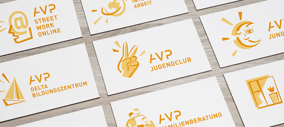 LOGO REDESIGN: THE AVP E.V. SIGN SYSTEM